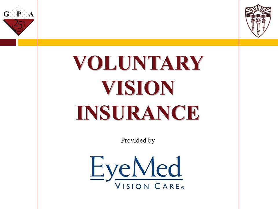 VOLUNTARY VISION INSURANCE Provided by