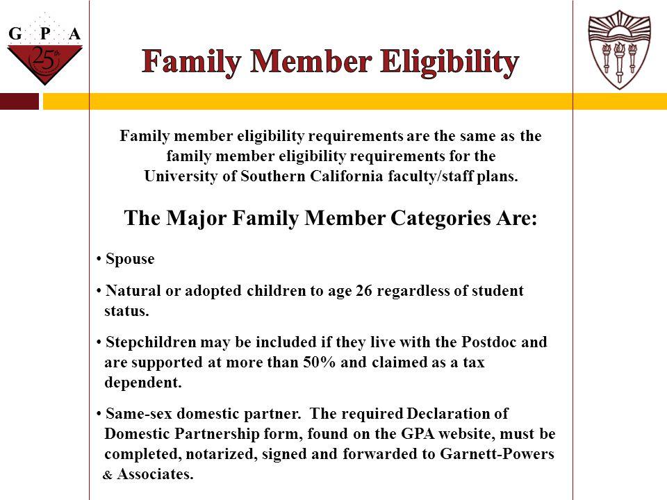 Family Member Eligibility