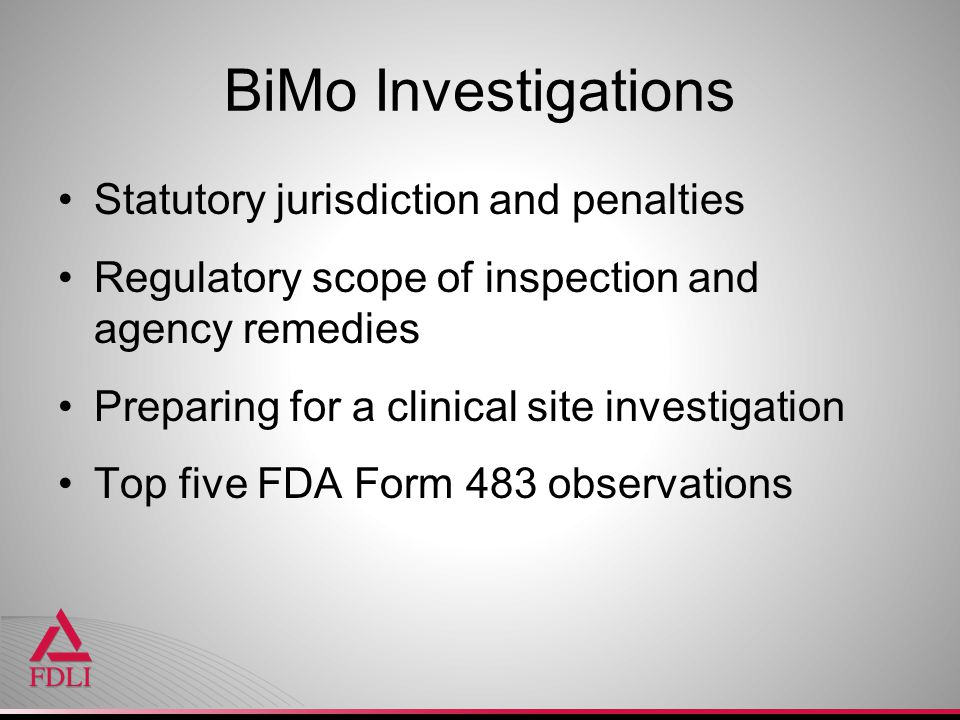 BiMo Investigations Statutory jurisdiction and penalties