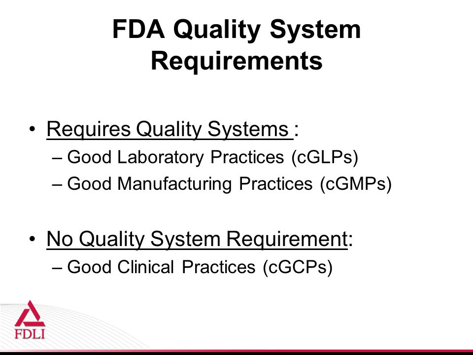 FDA Quality System Requirements