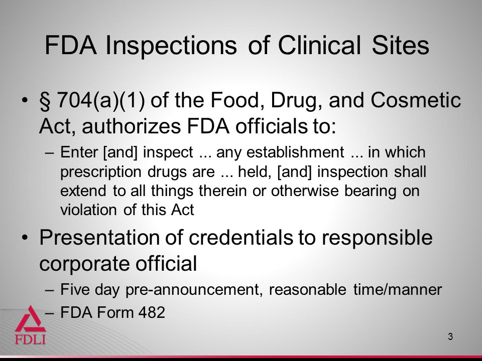 FDA Inspections of Clinical Sites