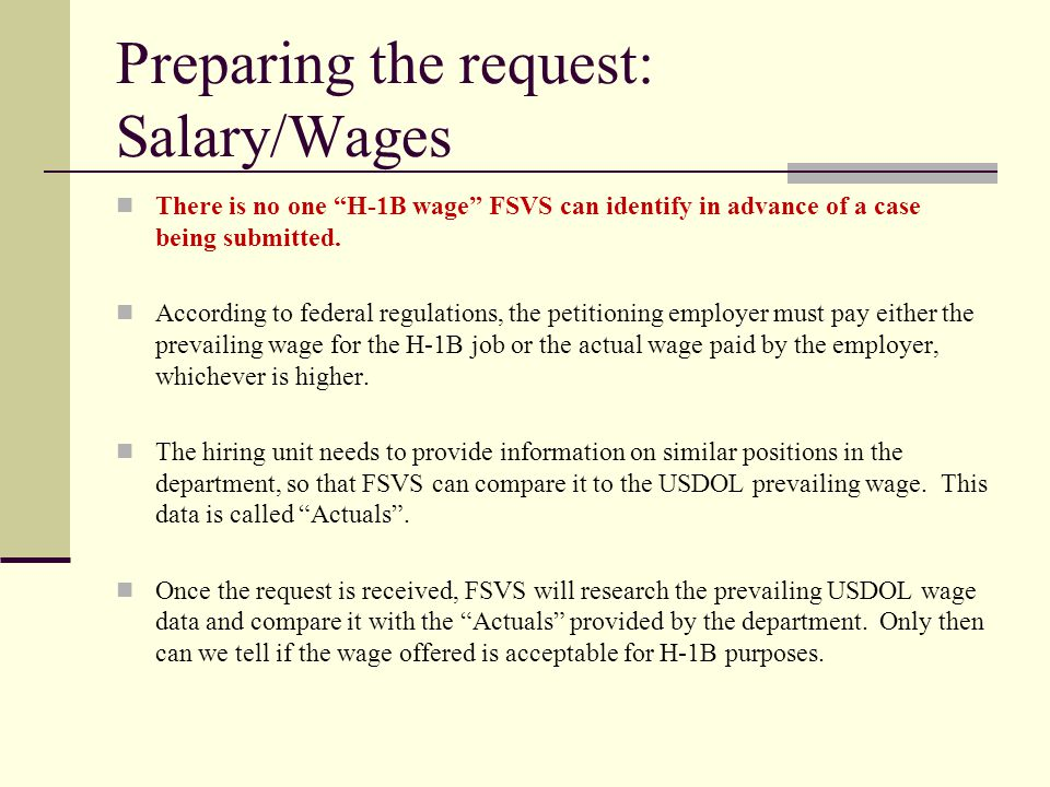 Preparing the request: Salary/Wages