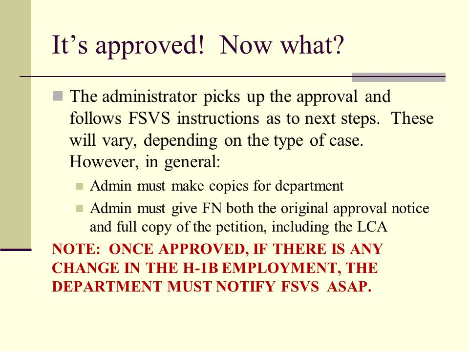 It's approved! Now what