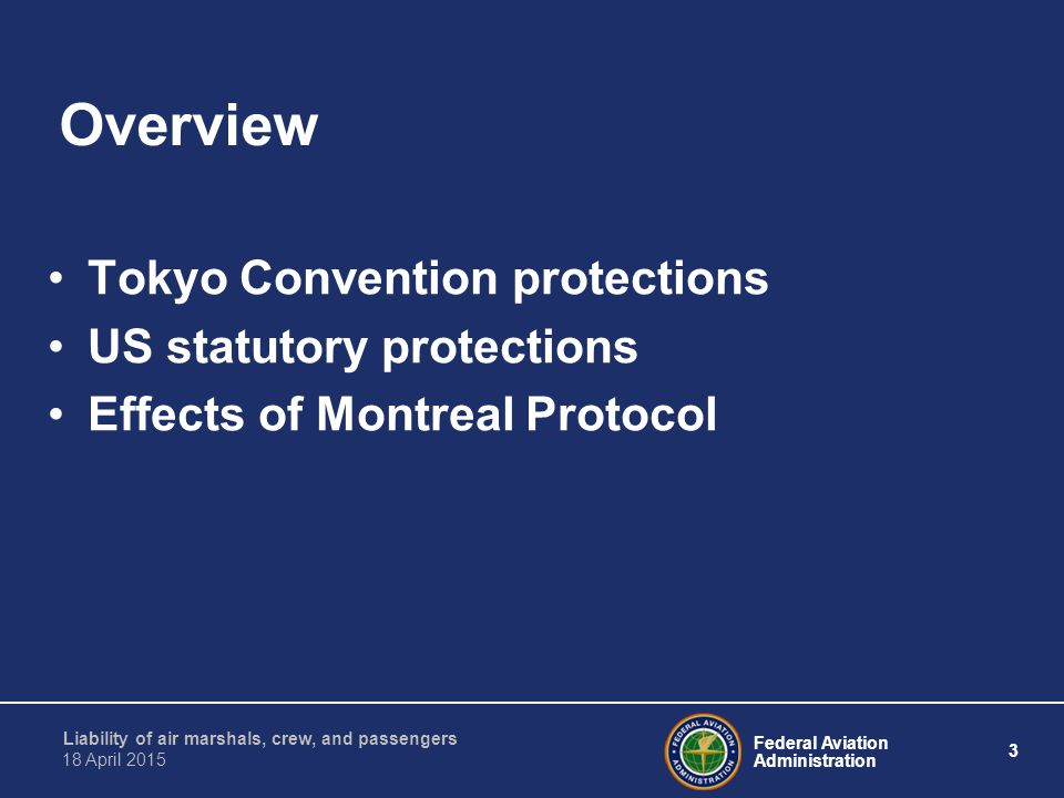 Overview Tokyo Convention protections US statutory protections