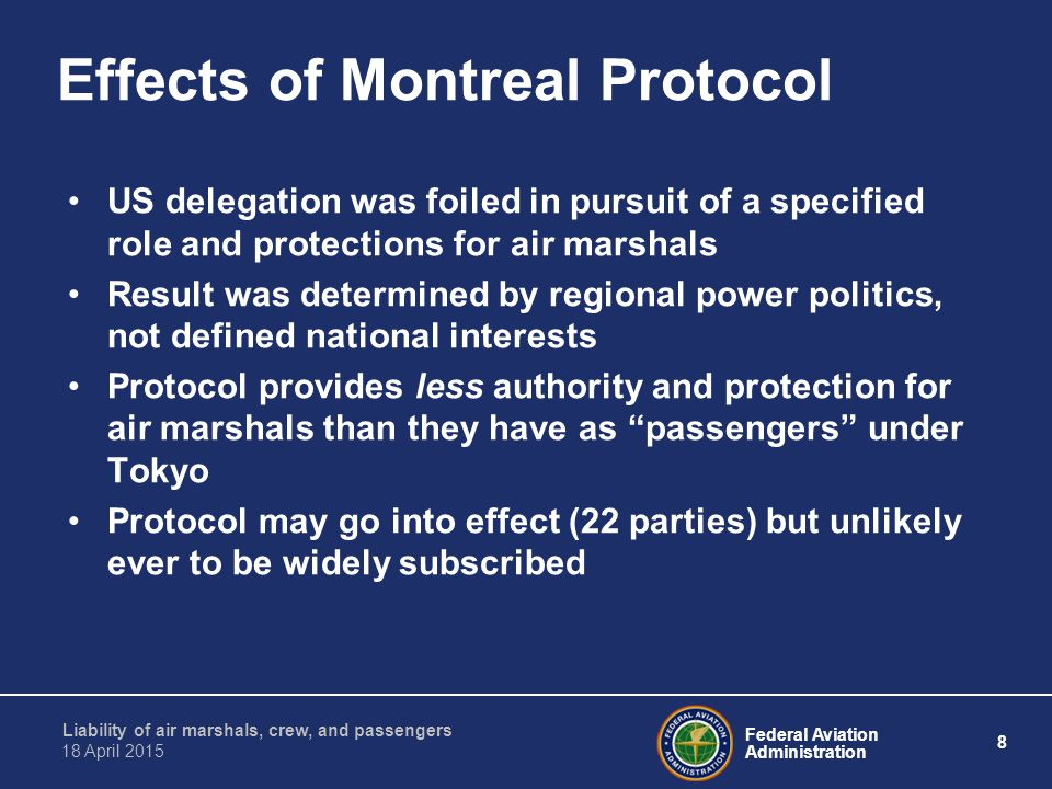 Effects of Montreal Protocol