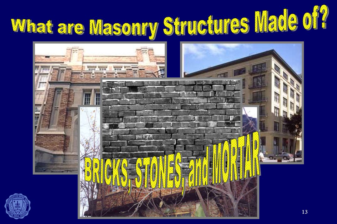 What are Masonry Structures Made of