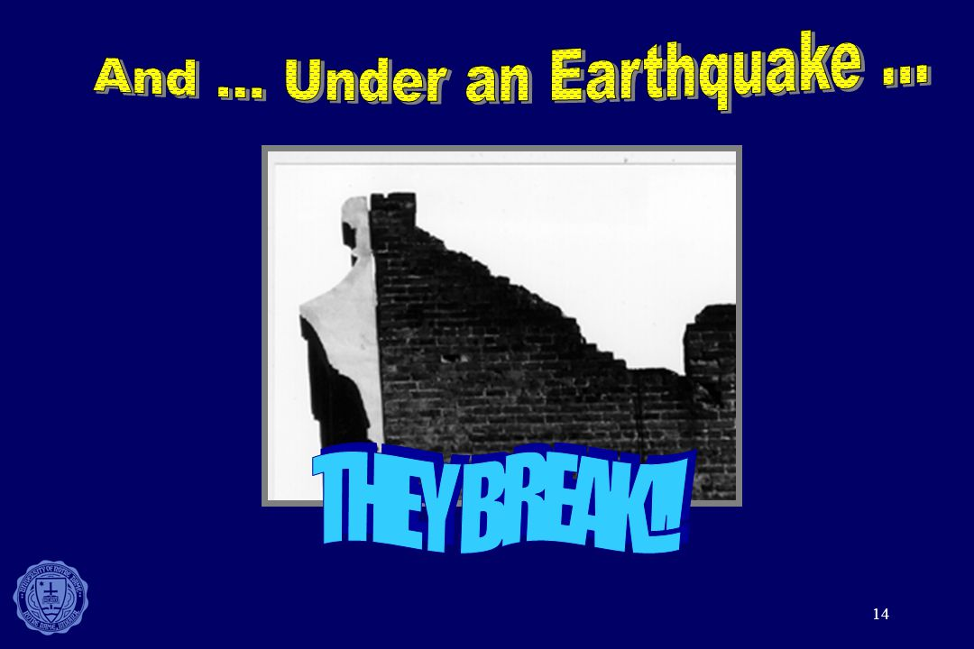 And ... Under an Earthquake ...