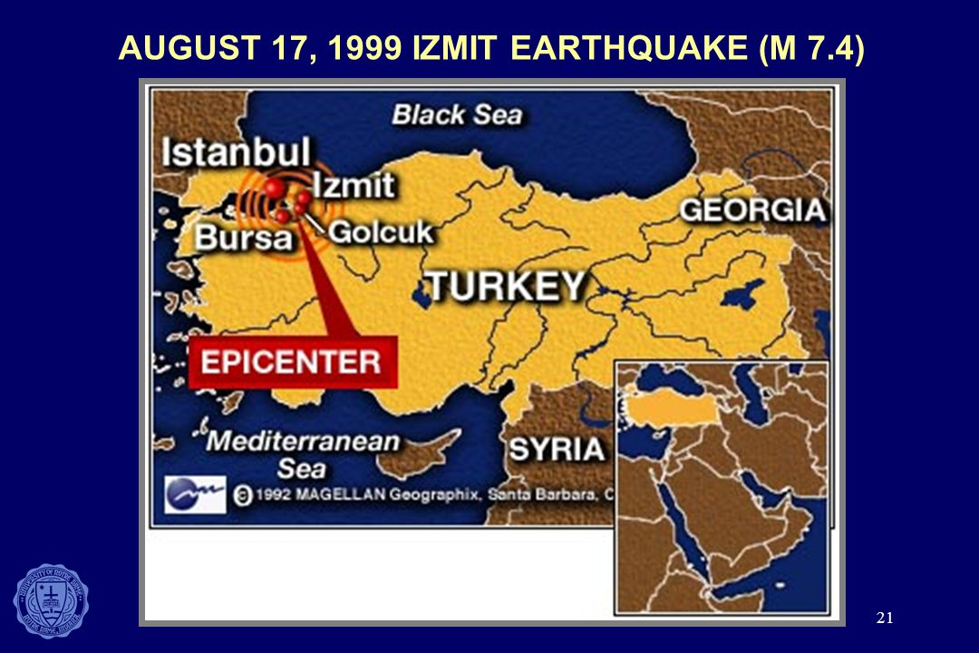 AUGUST 17, 1999 IZMIT EARTHQUAKE (M 7.4)