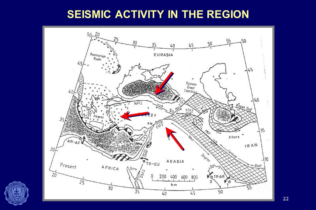 SEISMIC ACTIVITY IN THE REGION
