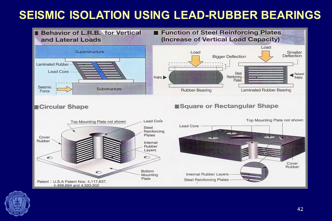SEISMIC ISOLATION USING LEAD-RUBBER BEARINGS