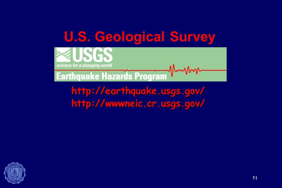 U.S. Geological Survey http://earthquake.usgs.gov/
