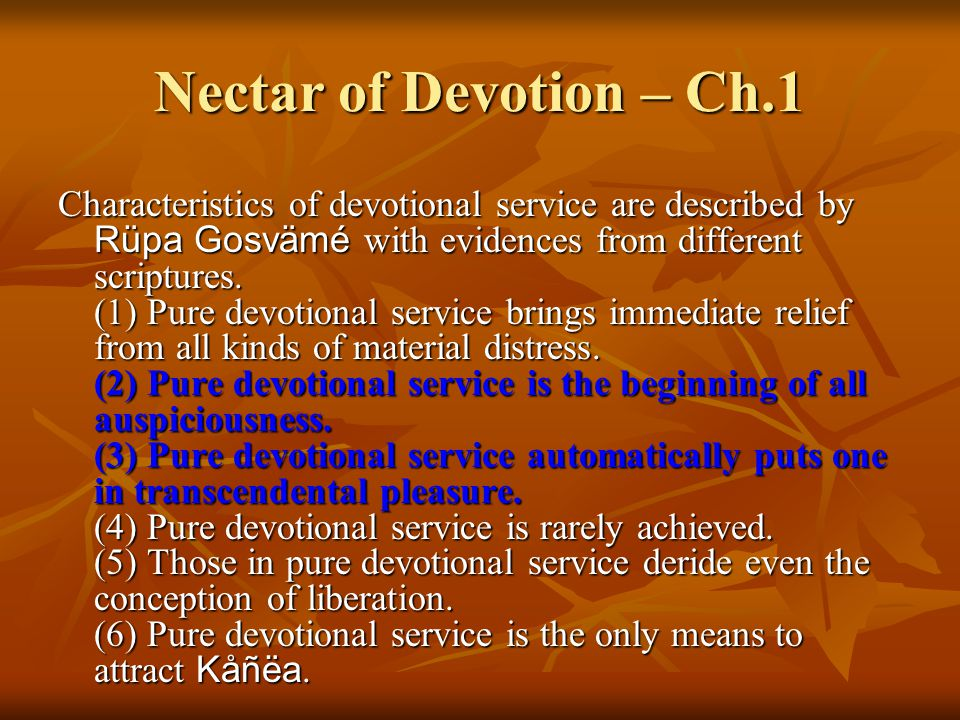 Nectar of Devotion – Ch.1