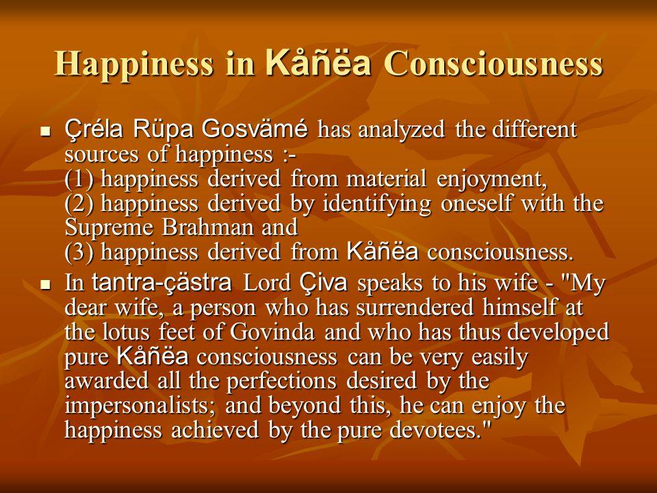 Happiness in Kåñëa Consciousness
