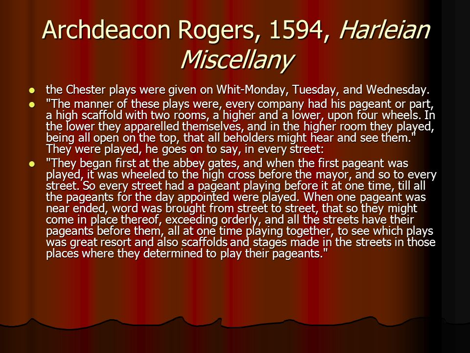 Archdeacon Rogers, 1594, Harleian Miscellany