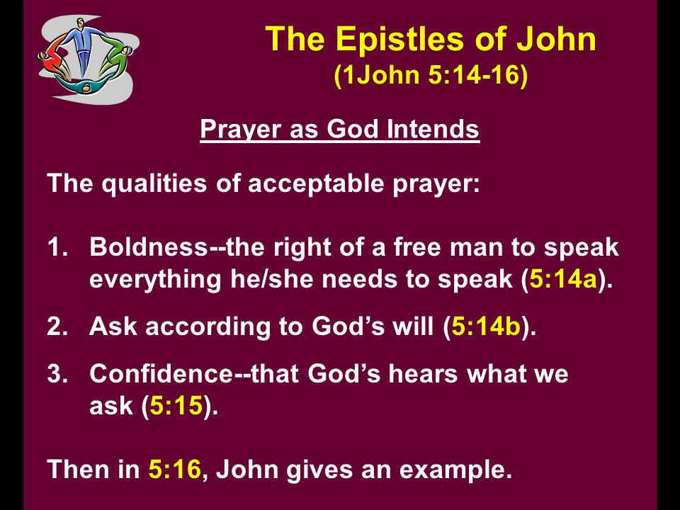 The Epistles of John (1John 5:14-16) Prayer as God Intends