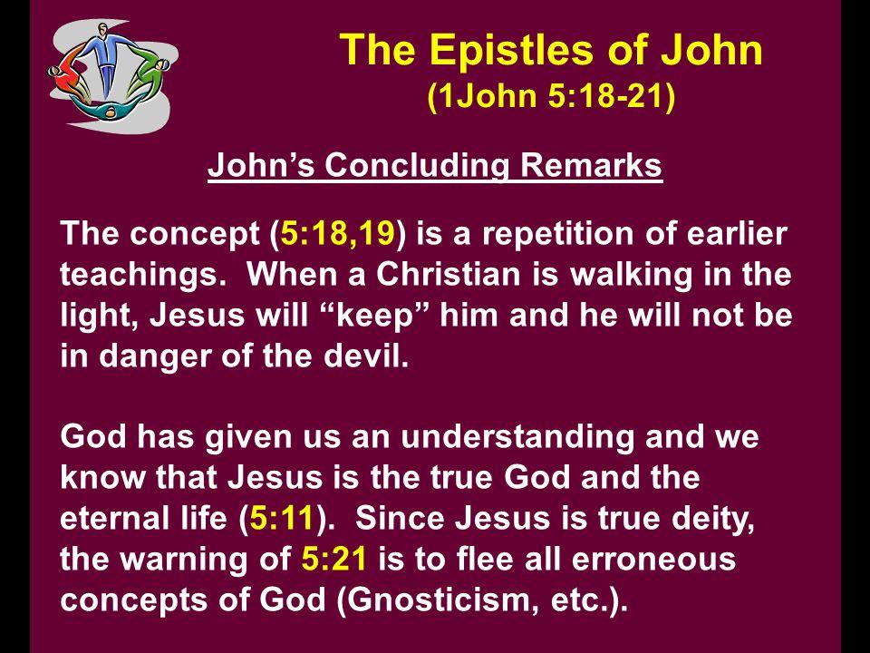 John's Concluding Remarks