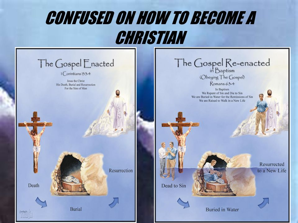 CONFUSED ON HOW TO BECOME A CHRISTIAN