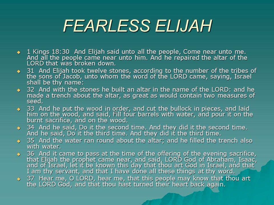 FEARLESS ELIJAH