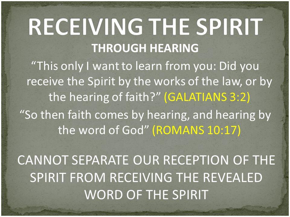 RECEIVING THE SPIRIT