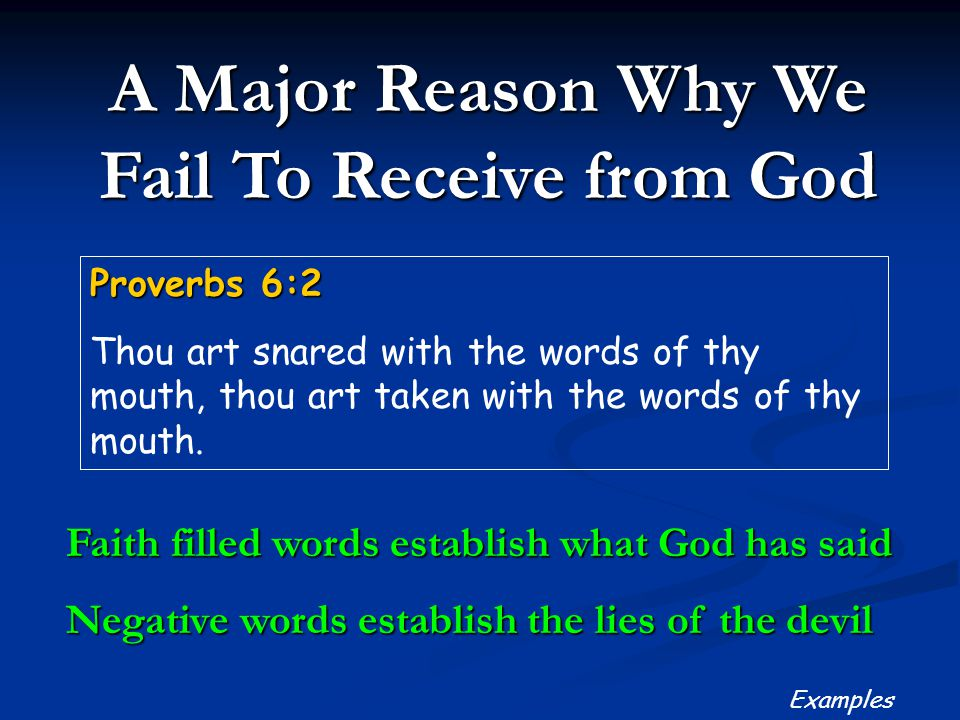 A Major Reason Why We Fail To Receive from God
