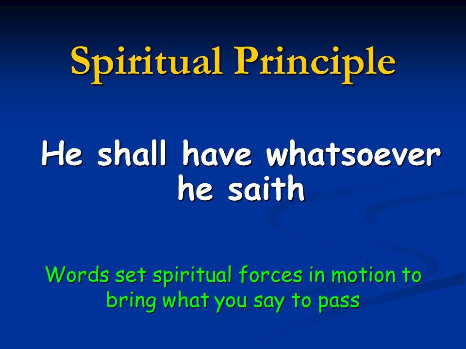 He shall have whatsoever he saith