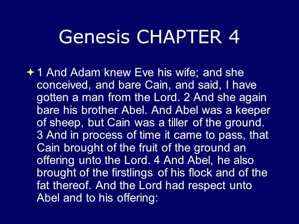 Genesis CHAPTER 4