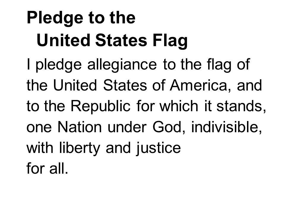 Pledge to the United States Flag