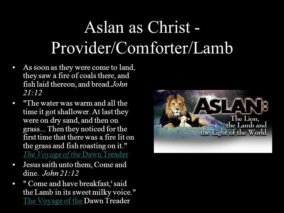 Aslan as Christ - Provider/Comforter/Lamb