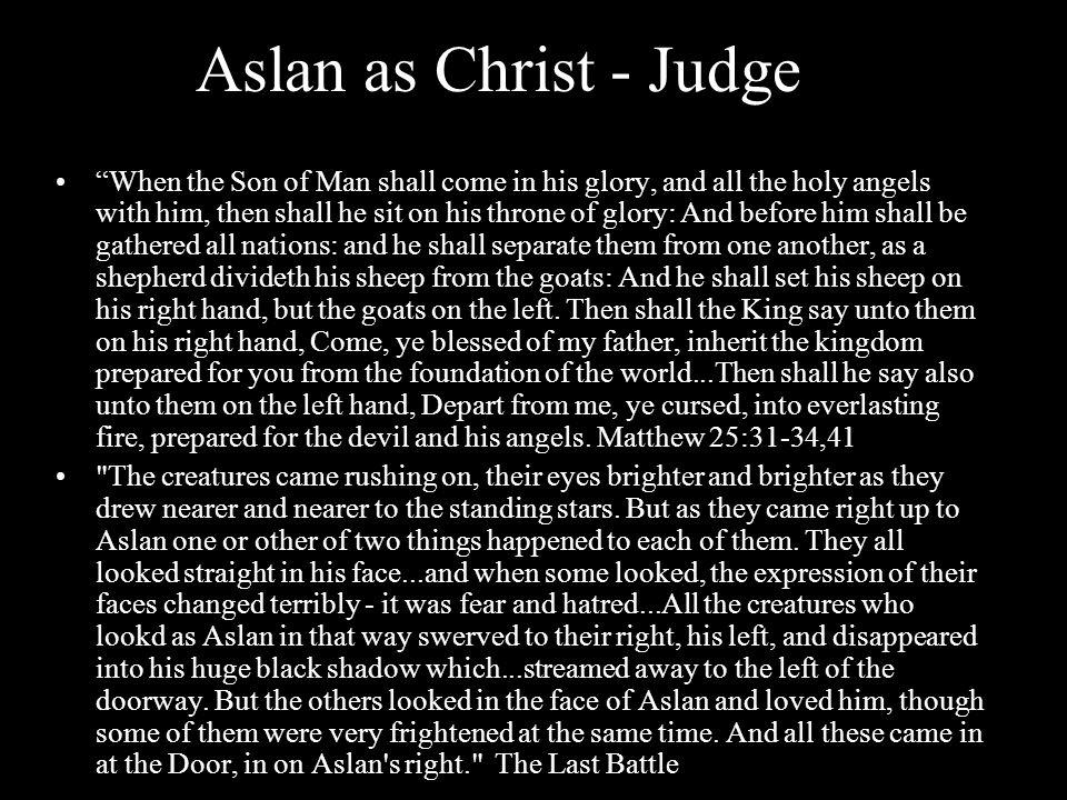 Aslan as Christ - Judge