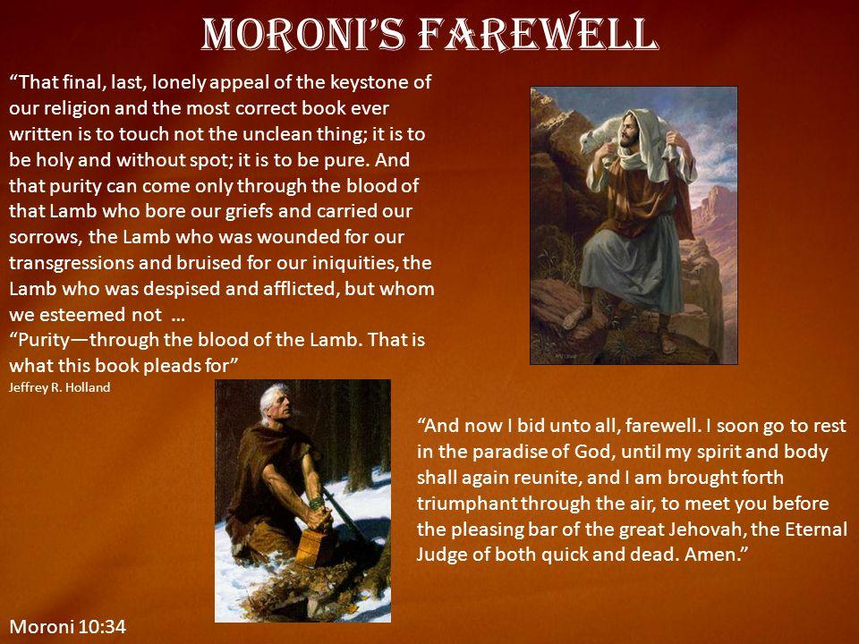 Moroni's Farewell