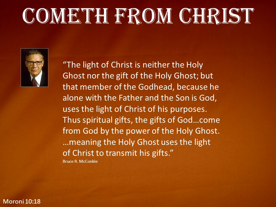 Cometh from Christ