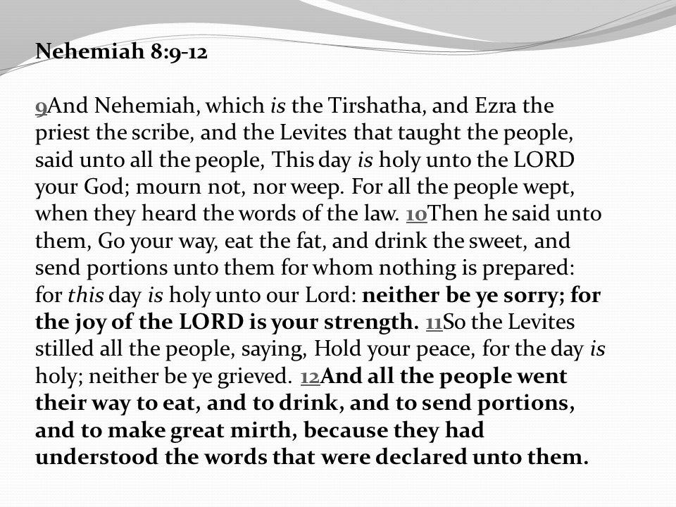 Nehemiah 8:9-12