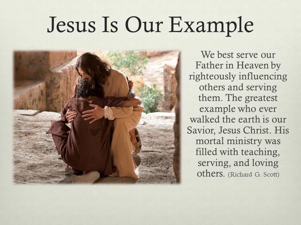 Jesus Is Our Example