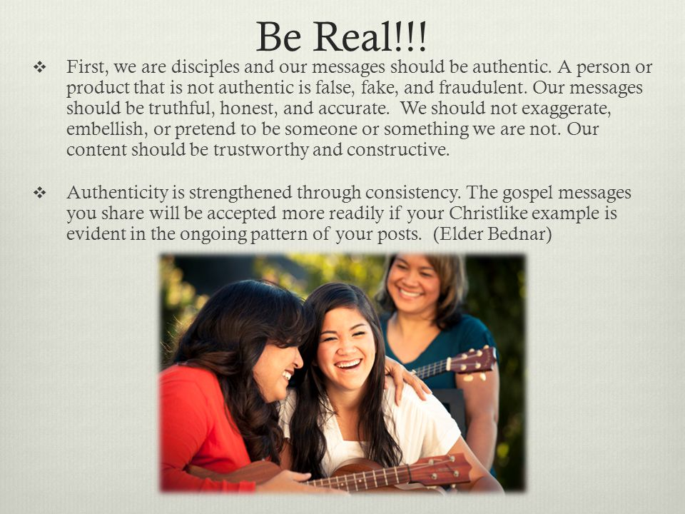 Be Real!!!