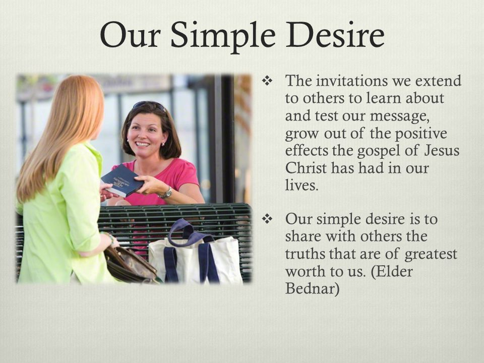 Our Simple Desire