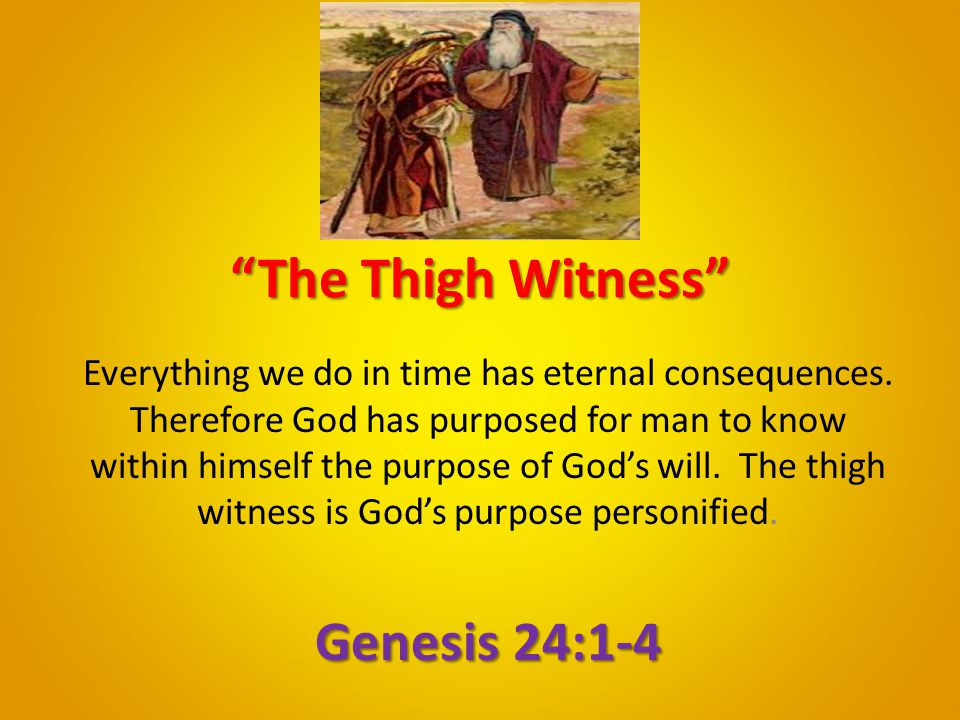 The Thigh Witness Genesis 24:1-4