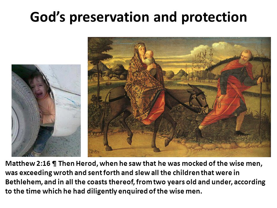 God's preservation and protection