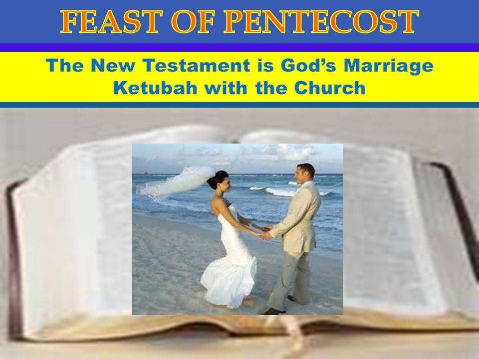 The New Testament is God's Marriage Ketubah with the Church