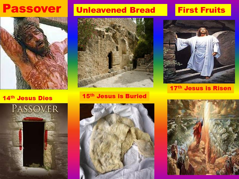 Passover Unleavened Bread First Fruits 17th Jesus is Risen