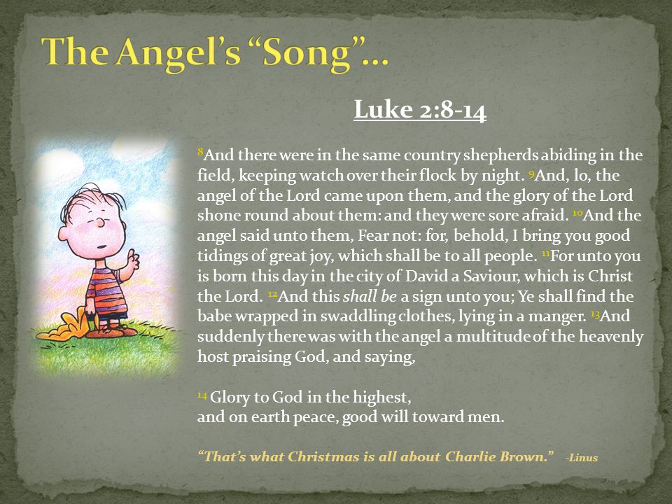 The Angel's Song … Luke 2:8-14