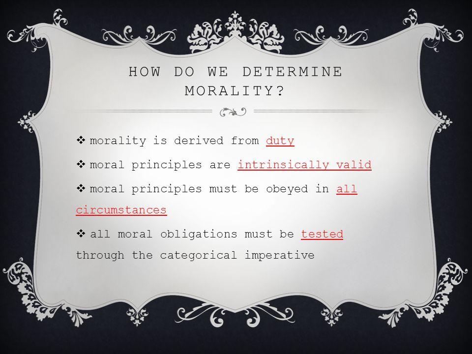 how do we determine morality
