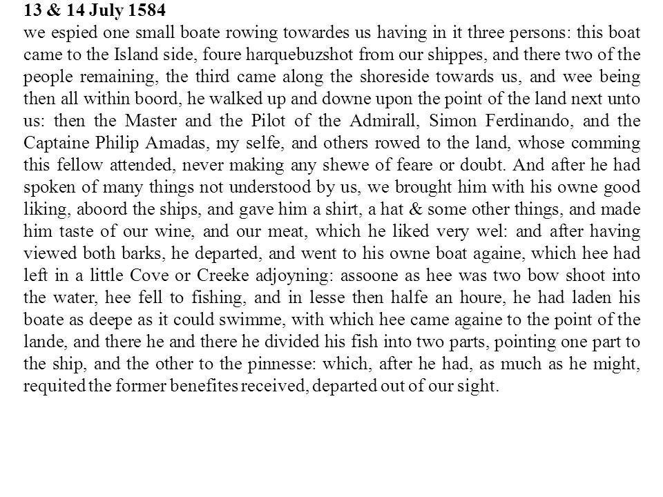 13 & 14 July 1584