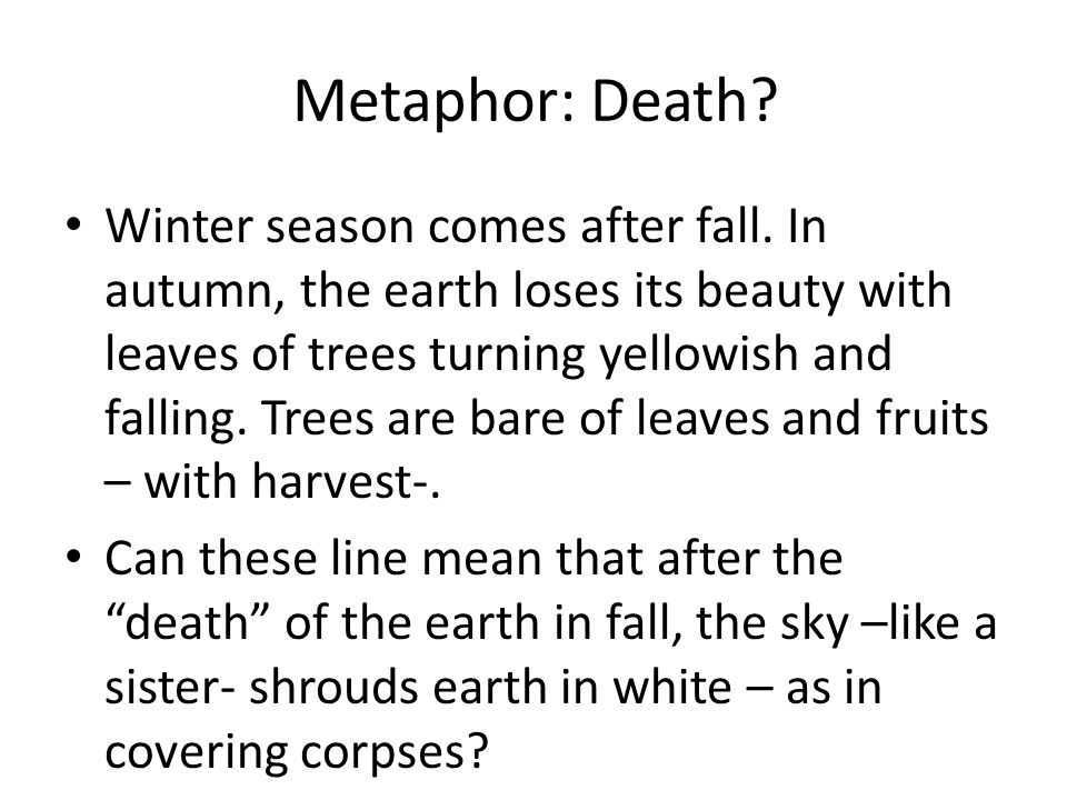Metaphor: Death