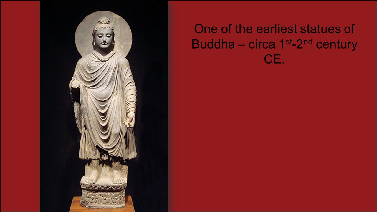 One of the earliest statues of Buddha – circa 1st-2nd century CE.