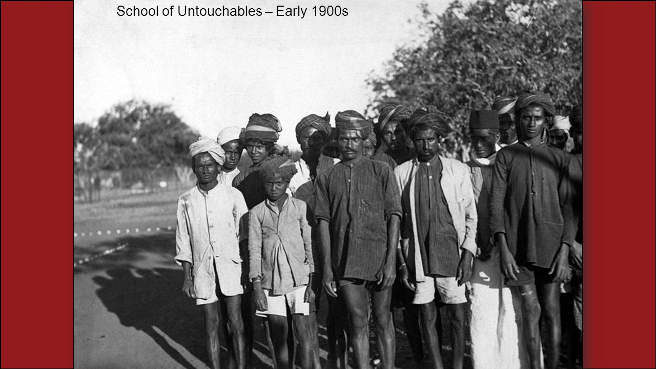 School of Untouchables – Early 1900s
