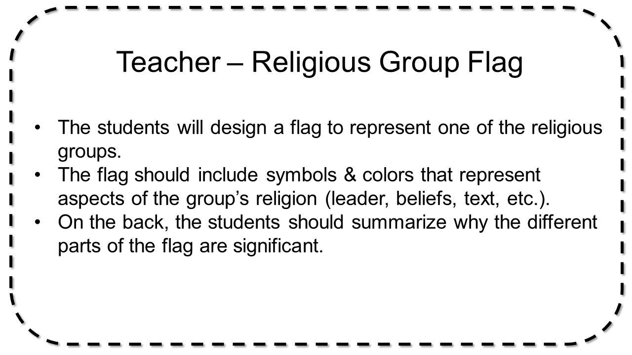 Teacher – Religious Group Flag