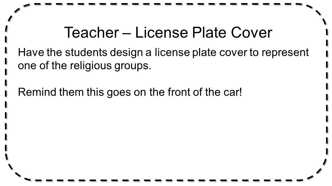 Teacher – License Plate Cover
