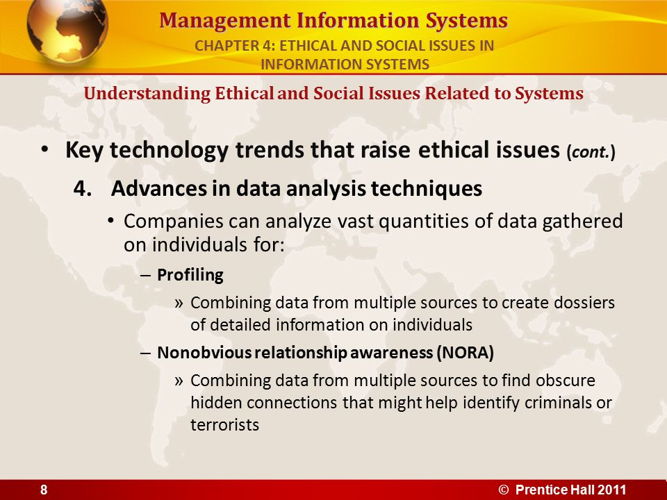 CHAPTER 4: ETHICAL AND SOCIAL ISSUES IN INFORMATION SYSTEMS