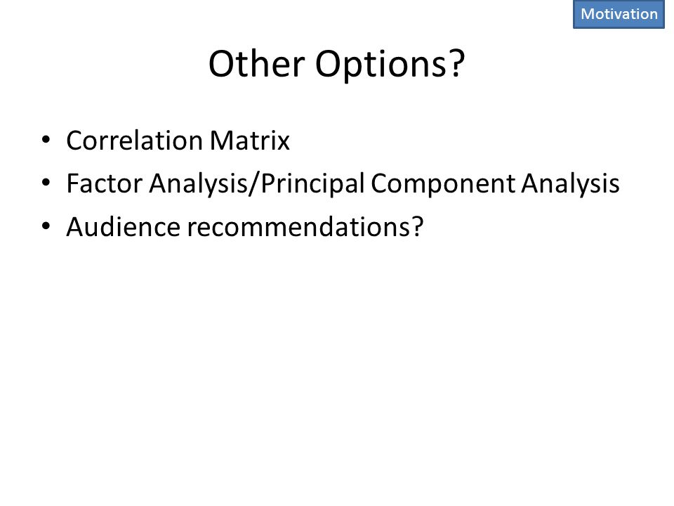 Other Options Correlation Matrix