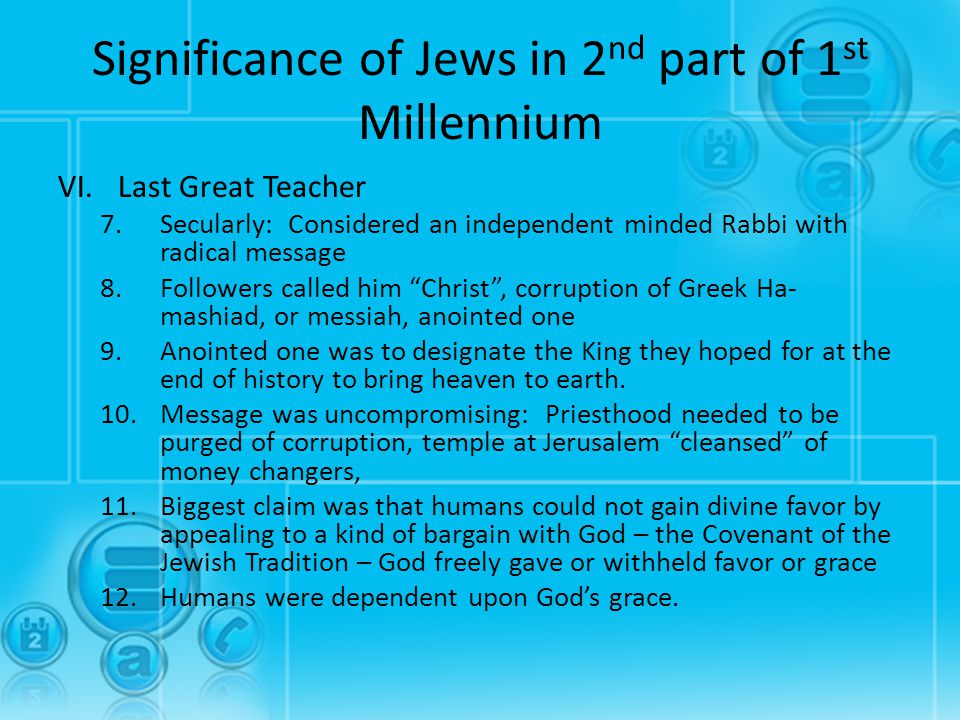 Significance of Jews in 2nd part of 1st Millennium